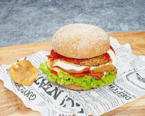 Rezept Pfifferling Burger lowcarb glutenfrei keto
