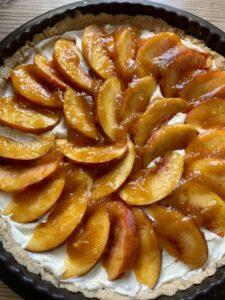 Rezept Pfirsich-Quark-Tarte lowcarb glutenfrei